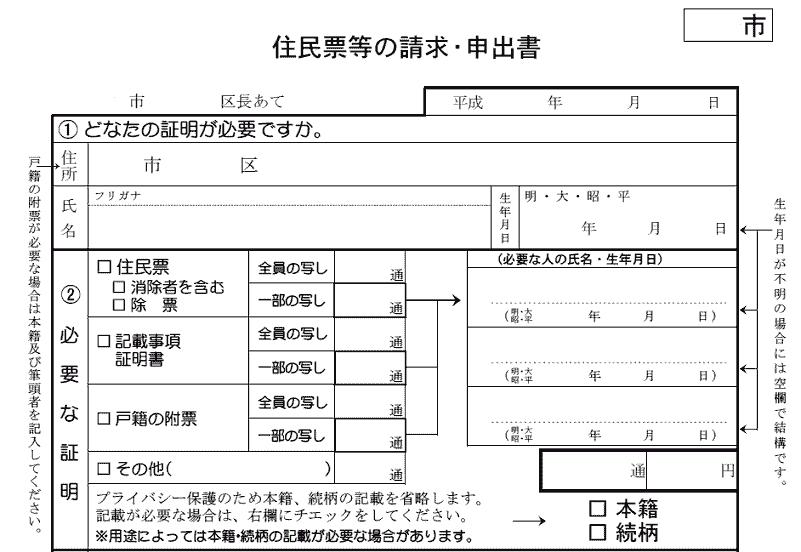 Q.本人等以外の第三者でも他人の住民票の写しを取得・請求できますか。